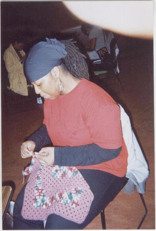 Hkc_Member_Aniqua_creating_crocheted_bla